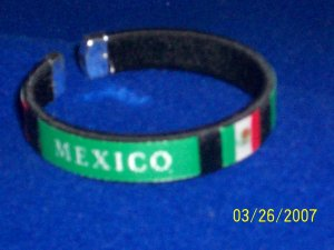 MEXICO Flag Bangle - Black
