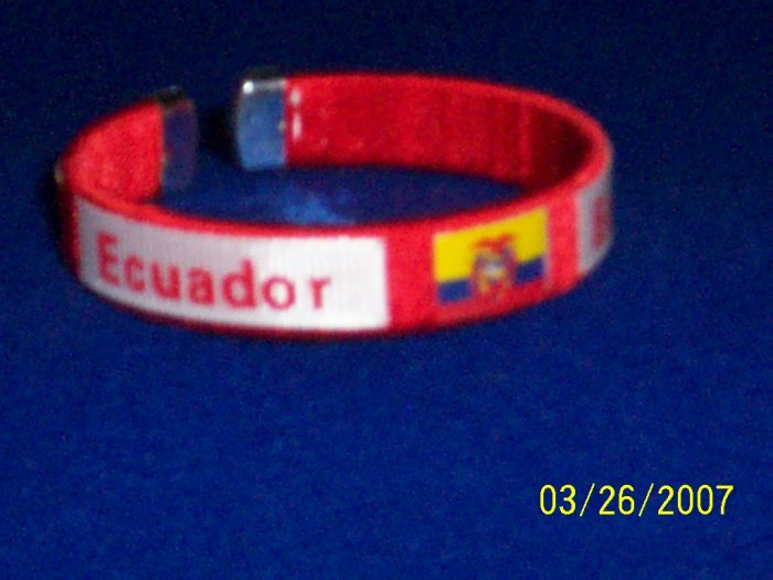 Ecuador Flag Bangle