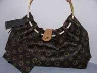 Fashion Handbag - (Registered) - Round Metal Handle