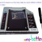 New 2nd SATA Hard Drive SSD HDD Caddy for ASUS N550JV N750JV re GU71N UJ8C2