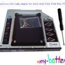 2nd Hard Drive SSD Caddy Adapter for ASUS A8JS F3SC F3JR F5SL F7SE