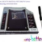 12.7mm 2nd SATA Hard Drive HDD Caddy for Lenovo ThinkPad Edge E430 E425 E420