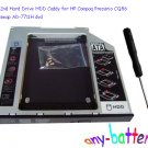 SATA 2nd Hard Drive HDD Caddy for HP Compaq Presario CQ56 CQ57 swap AD-7711H dvd