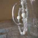 Handmade Double Strand White & Clear beaded Braclet