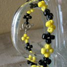 Black & Yellow Flower Bracelet