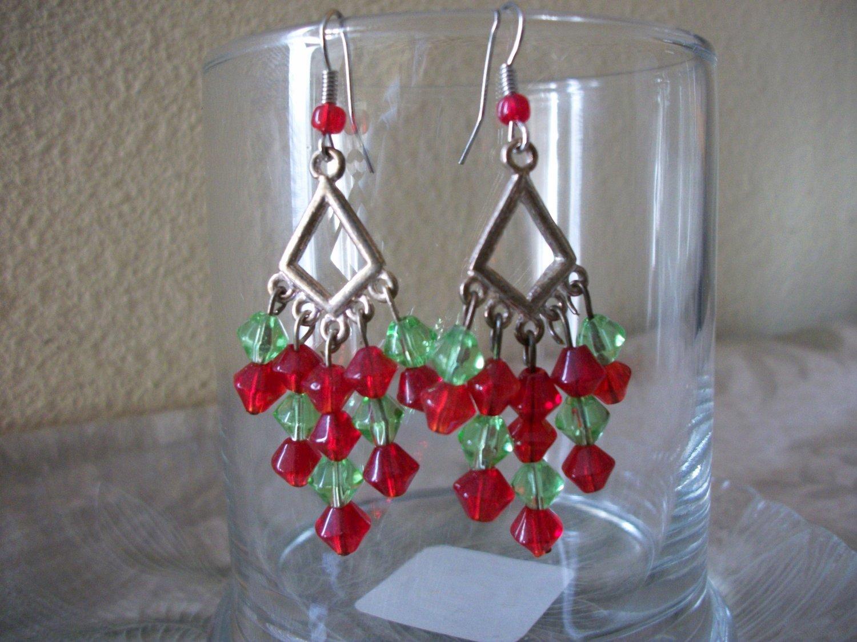 Handmade Christmas Dangle Earrings