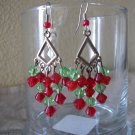 Handmade Christmas Dangle Earrings
