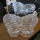 Lead Crystal Butterfly Trinket Box by Eternal Crystal NIB #00022