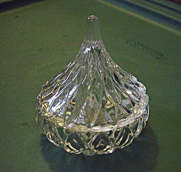 Glass Lidded Teardrop Vanity Trinket Box Ring Holder #00037