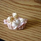 1999 Seraphim Classics Collector Club Basket of Puppies and Kittens Brooch  #00048