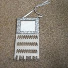57 Holes Stainless Steel  Earring and 8 Hook Necklace Wall Display Holder with Mirror #00038
