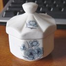 Vintage 1979 Enesco Fine Bone China Jar Trinket Box #00110