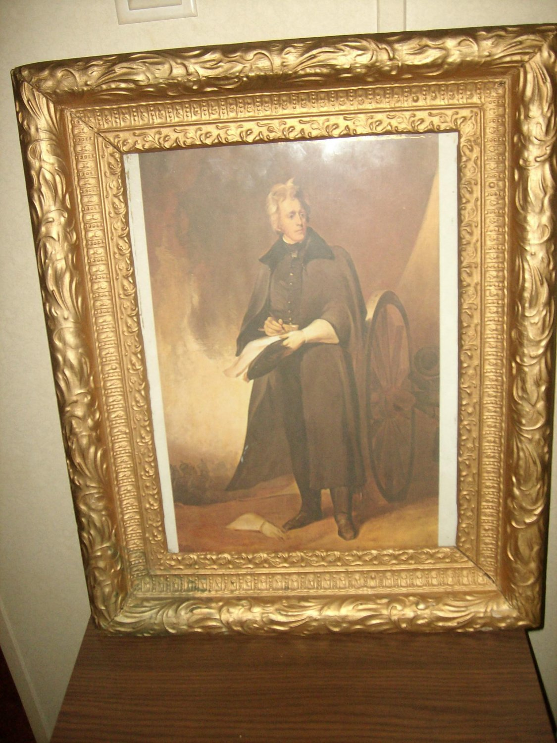 Vintage Gold Picture Frame With Thomas Sully Print 21x18
