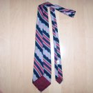 Men's Tie Navy/Red/Silver