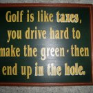 Wall plaque Golf Like Taxes
