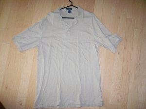 Tan Lands End Golf Shirt XL