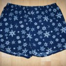 Men's Volley Shorts XL 40-42 Navy White Snowflakes Designs