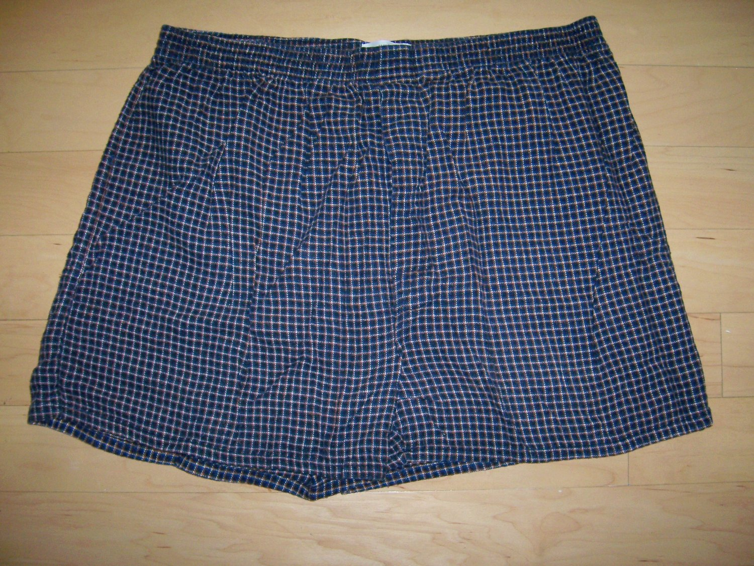 Men's Volley Shorts Navy w Red/White Small Checkered Pattern