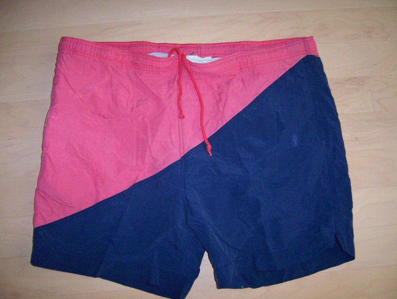 Men's Swim Suit Navy/Red XL