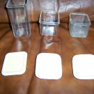 Set Of Three H/D Plastic Storage Jars w Covers