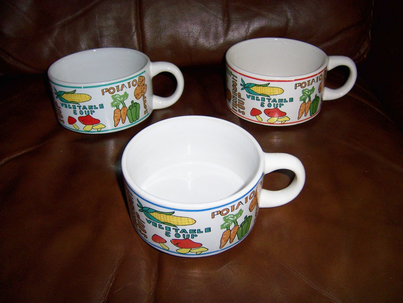 Soup N Crackers Set Of Three Bowls