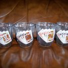 12 OZ Glasses Set Of Four Card Playing