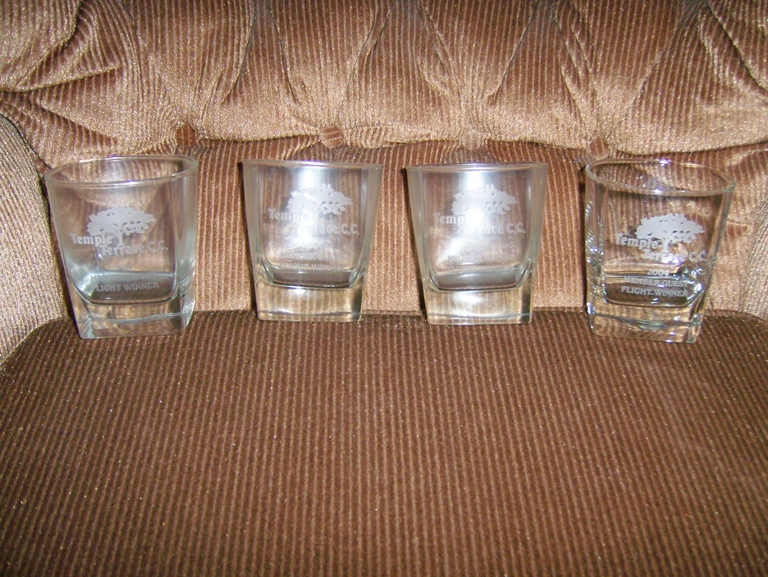 Glasses  Country Club Logo Set Of 4