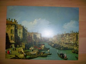 "Reproduced Painting ""The Grand Canal Near The Rialto Bridge"""