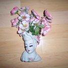 Ivory lady's Face Vase w Flowers BNK130