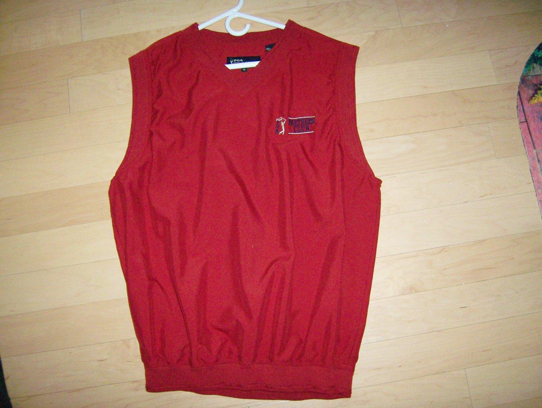 Vest Red Polyester PGA Logo BNK138
