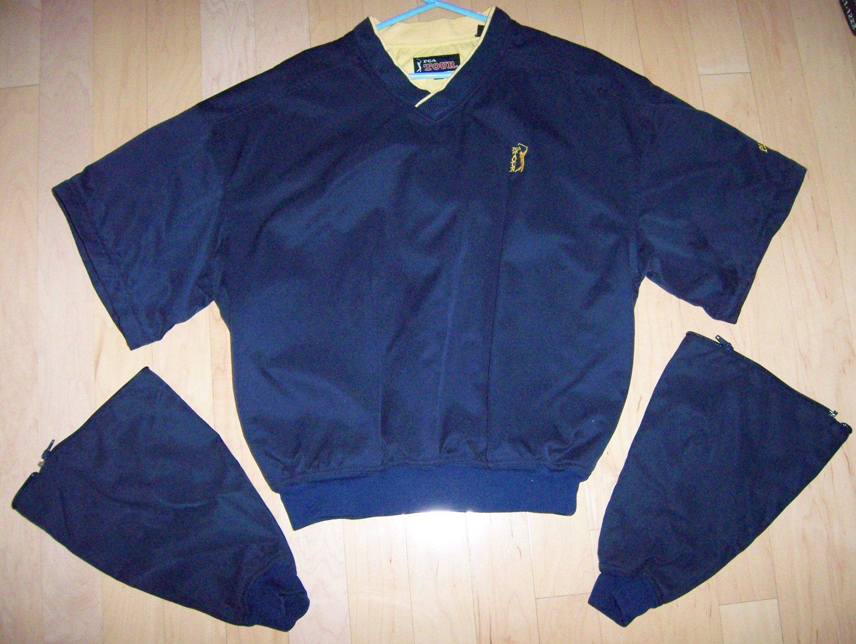 Vest Navy W Zipper Off Sleeves BNK140