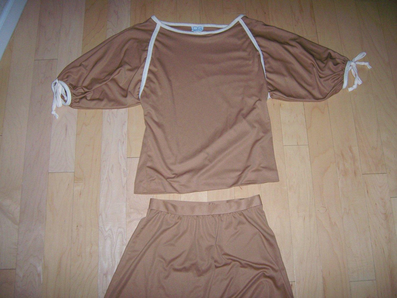 2 Peice Dress Tan Size 10 Medium BNK144
