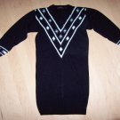 Knit Dress Black/ White& Pearl Trim Size 10 Medium