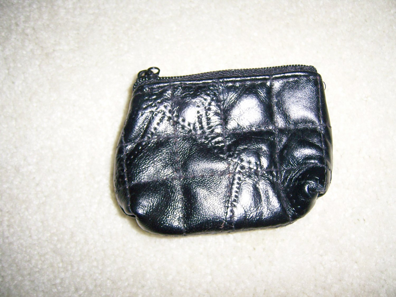 Black PatchWork Leather Coin Purse BNK156