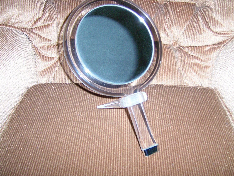 Hand Mirror Reg/Magnifier w Stand  BNK171