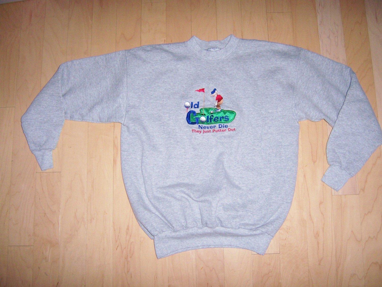 Gray Golfer's Sweatshirt Size Medium (36) BNK182
