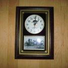 "Wall Clock 15""x11"" Country Club Photo BNK187"