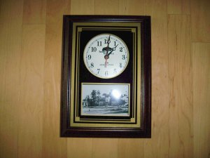 "Wall Clock 15""x11"" Country Club Photo BNK187"