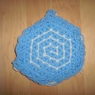 Pot Holder Knitted Blue/White BNK189