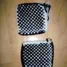 Pot Holders Knitted Black/White BNK195