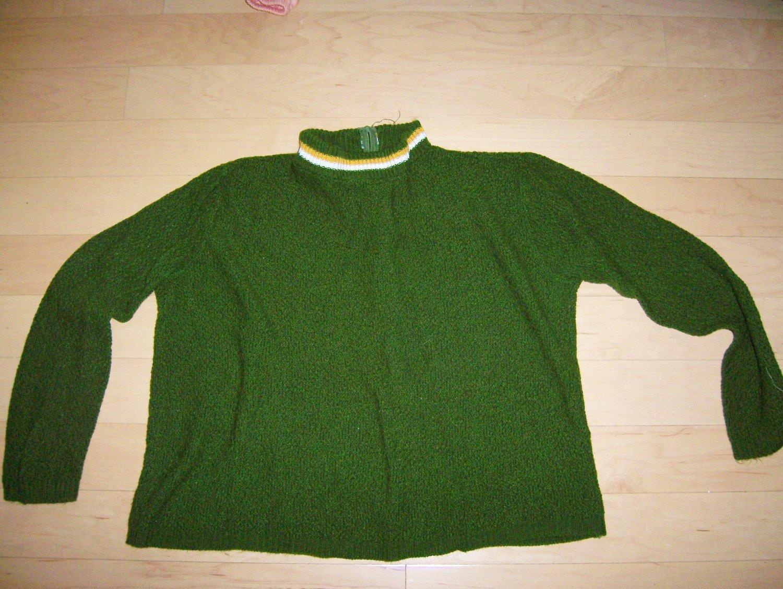 Green Long Sleeve Sweater Size 36 BNK203