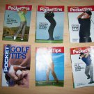 6 Pocket Size Golf Tips Brochures BNK227