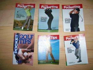 6 Pocket Size Golf Tips Brochures BNK227
