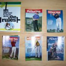 6 Pocket Size Books Golf Tips BNK228