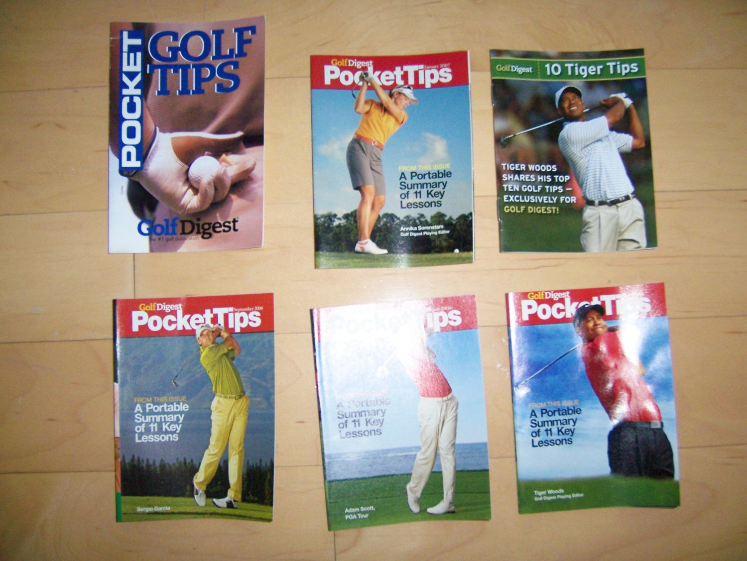6 Pocket Sized Book Golf Tips BNK231