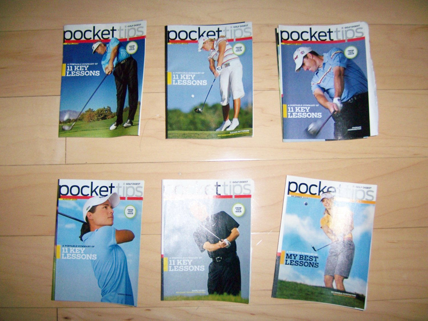 6 Pocket Size Books Aid To Your Golf Game BNK233