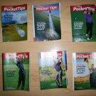 6 Pocket Sized Books Tips On Golf  BNK235