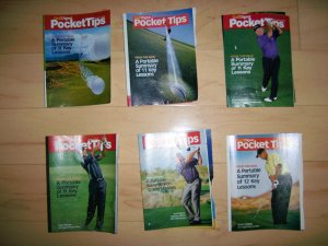 6 Pocket Sized Books Tips On Golf  BNK235
