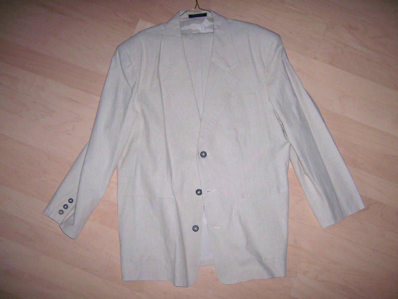 Sports Coat/Blazer Creame Colored Size 44 Long BNK265