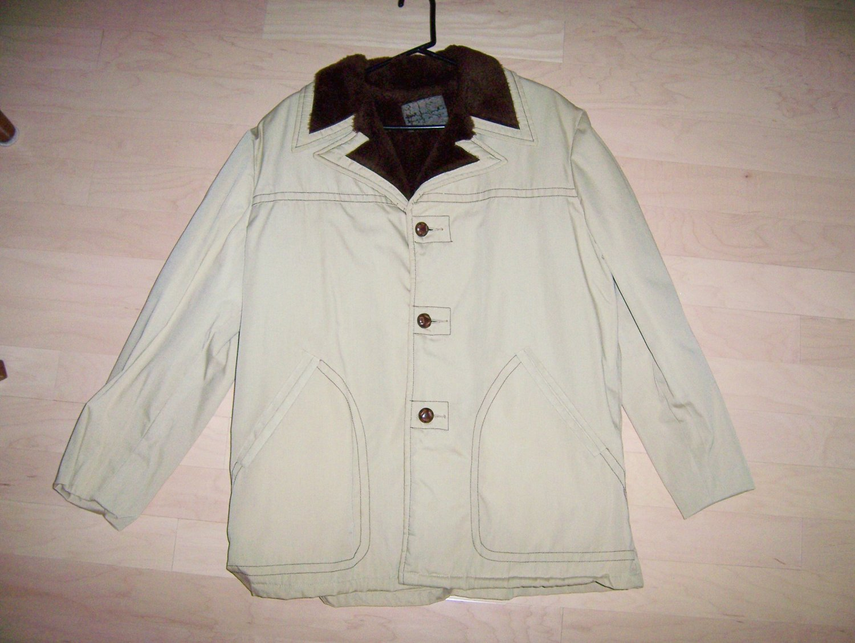 Men's Jacket Fur Lined & Collar Trim  Size 44 BNK275